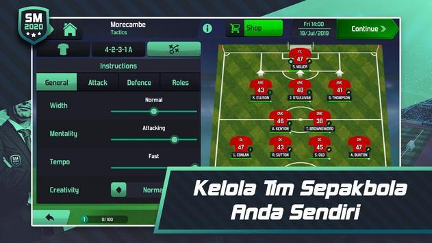 Soccer Manager 2020 - Game Manajemen Sepak Bola screenshot 1