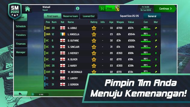 Soccer Manager 2020 - Game Manajemen Sepak Bola screenshot 5