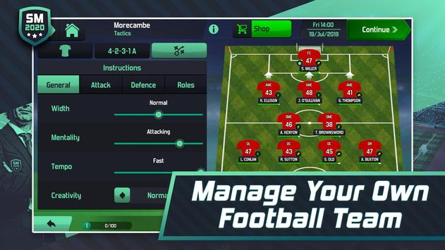 Soccer Manager 2020 - Football Management Game screenshot 1