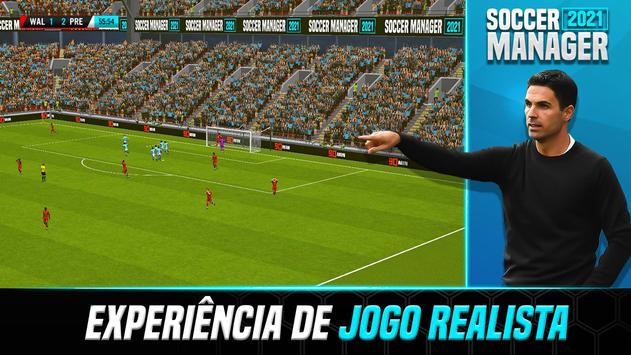 Soccer Manager 2021 - Jogos de Futebol Online Cartaz