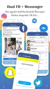 Messenger for Lite Messages, Text & Chat Free poster