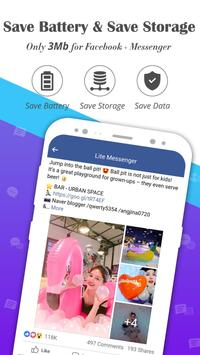 Messenger for Lite Messages, Text & Chat Free screenshot 1