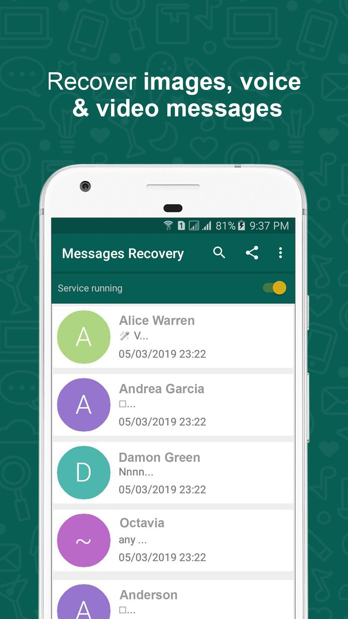 Msg Recovery - View Deleted Messages for WhatsApp for