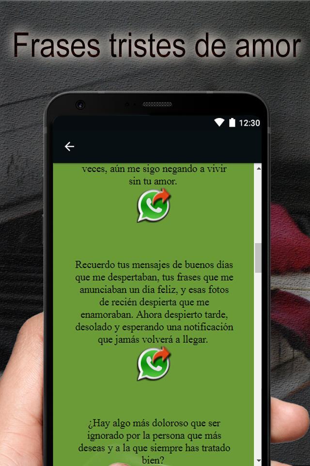 Frases Tristes De Amor для андроид скачать Apk