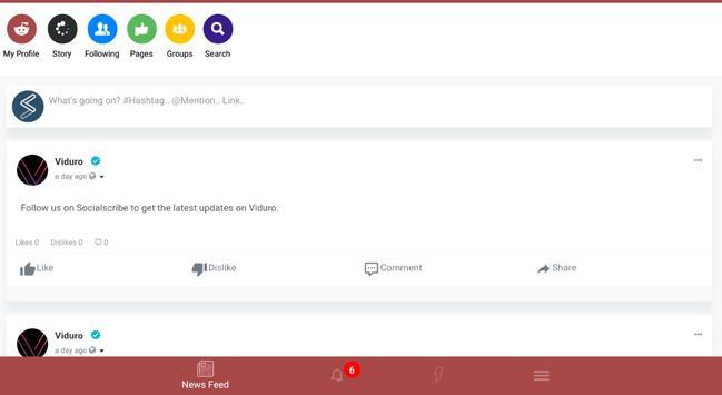 Socialscribe - Social media app! screenshot 1