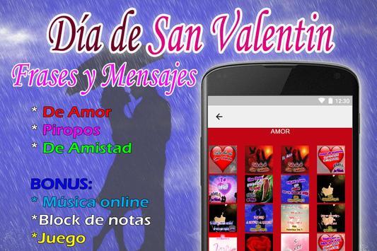 Frases de San Valentin poster