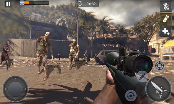 Dead Zombie Battle 2019 - frontier war survival 3d screenshot 1