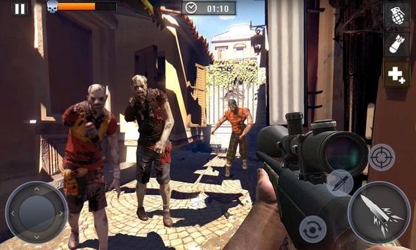 Dead Zombie Battle 2019 - frontier war survival 3d screenshot 2