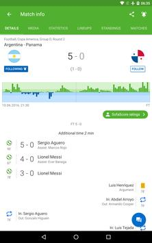 Soccer Scores and Sports Livescore - SofaScore تصوير الشاشة 9