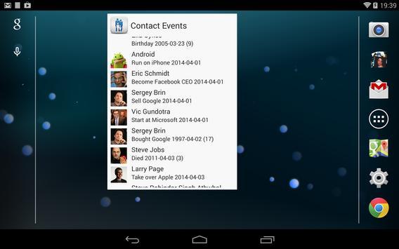 Contact Lookup Events screenshot 2