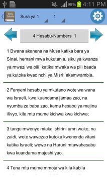 Swahili Bible Offline screenshot 10