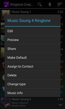 Ringtone Creator captura de pantalla 2