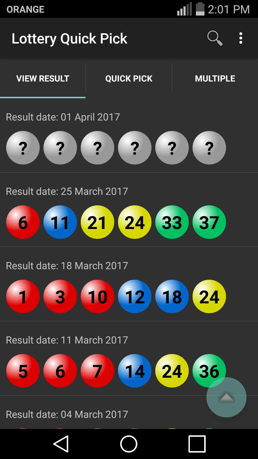 Lottery Quick Pick for Android - APK Download