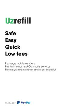 Uzrefill - Mobile top-ups & Payments for services poster