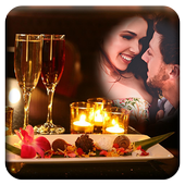 Candle Light Dinner Photo Frames icon