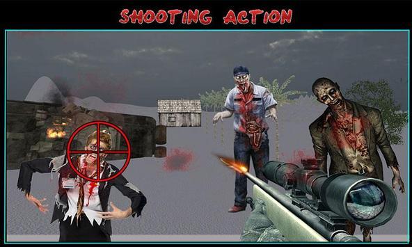 Zombie Shooting Sniper Assault screenshot 3