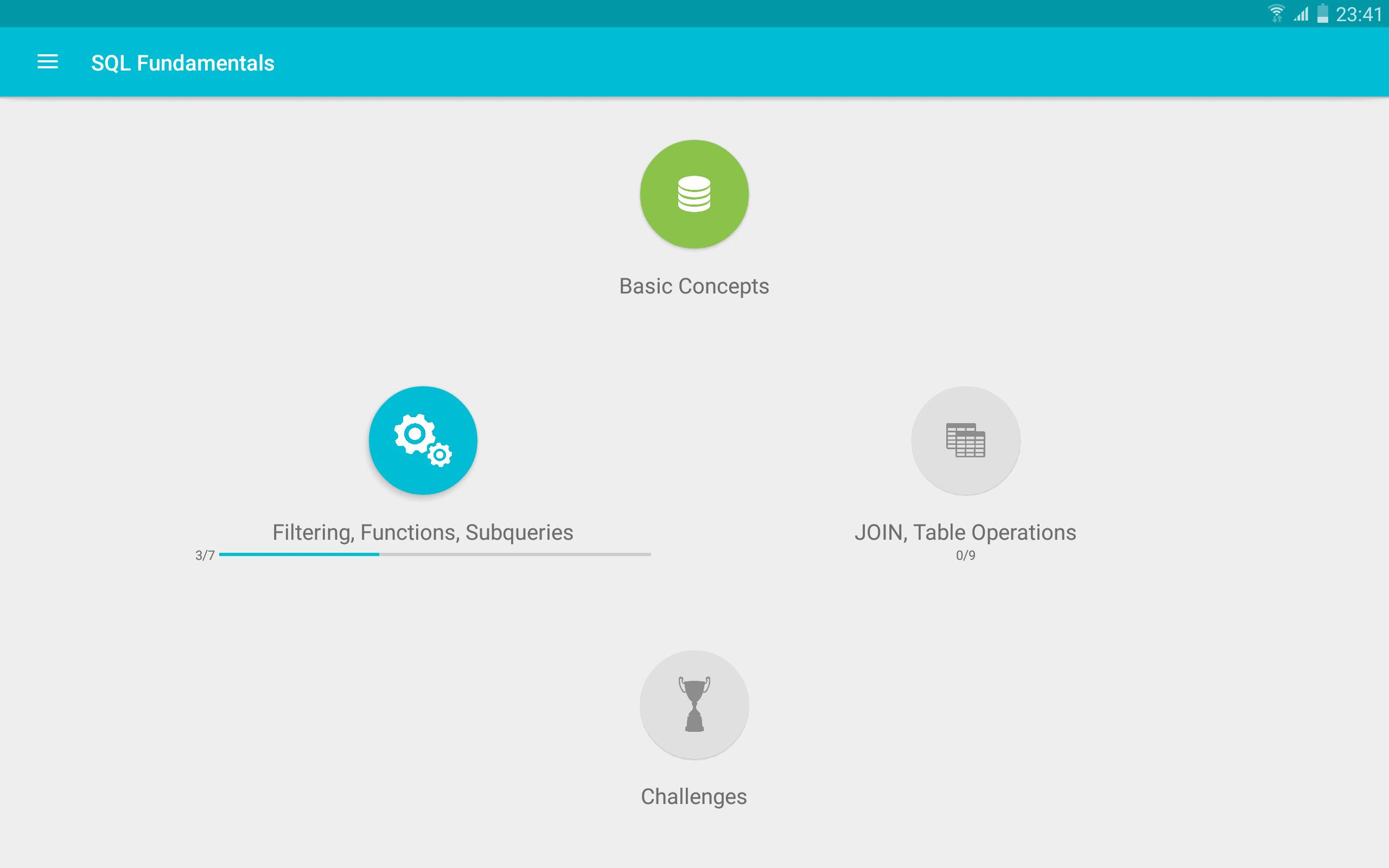 Learn SQL cho Android - Tải về APK