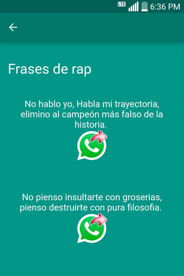 Frases De Rap для андроид скачать Apk