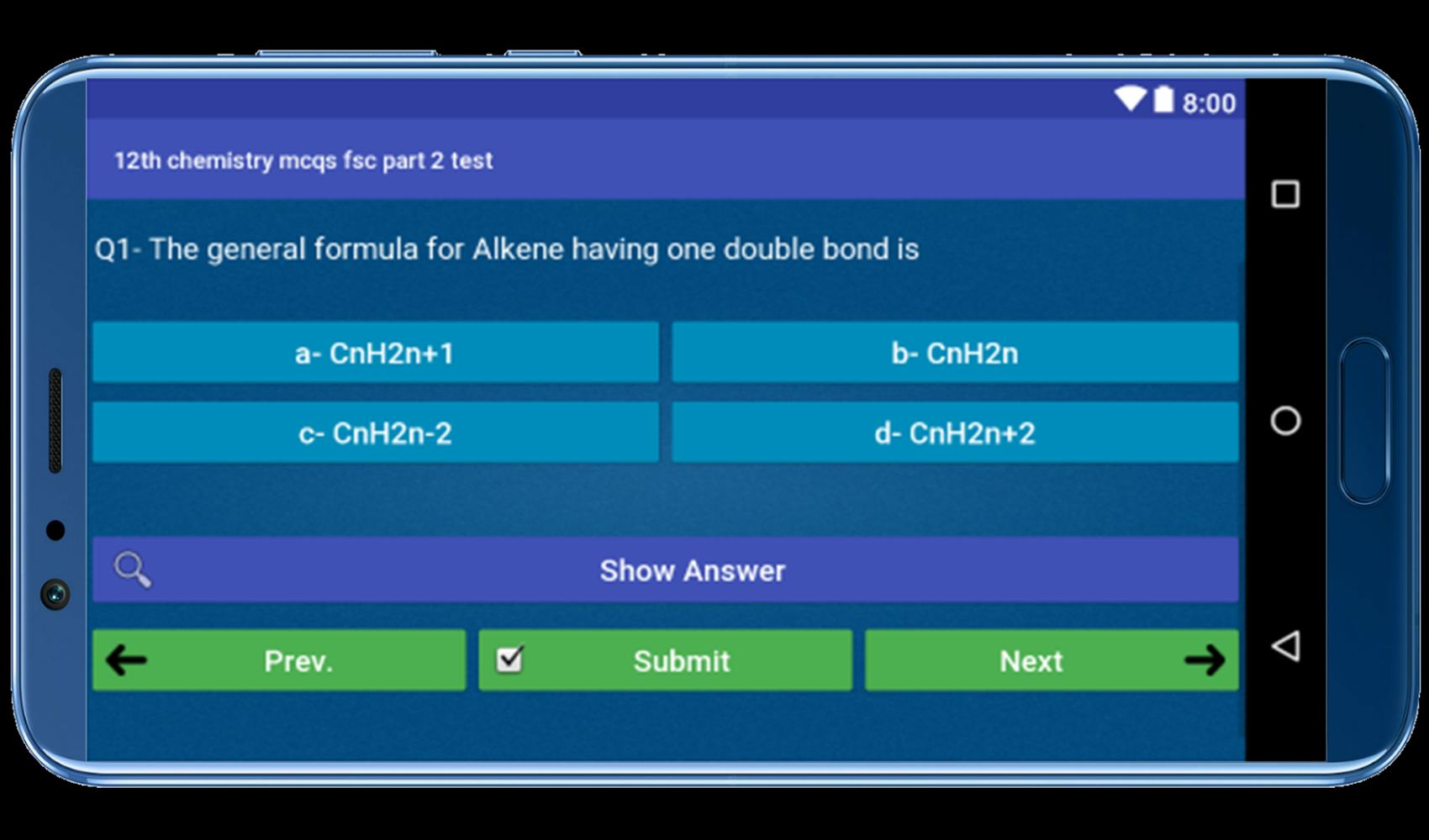 12th chemistry mcqs fsc part 2 test for Android - APK Download