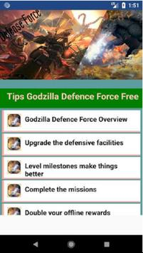 Tips and Hints for Godzilla Defense Force free poster