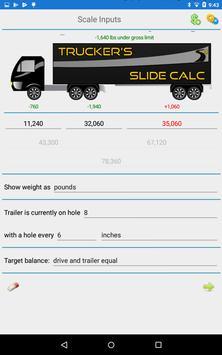 Trucker's Slide Calc تصوير الشاشة 1