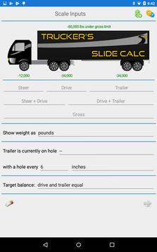 Trucker's Slide Calc تصوير الشاشة 6