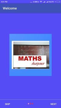 Maths Sharpener poster
