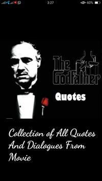 GodFather Quotes poster