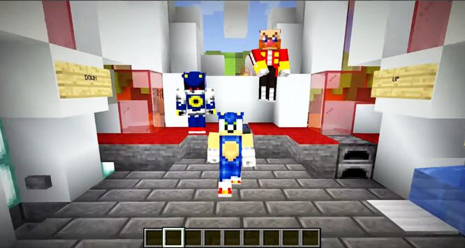 Sonic Parkour Mod Fast Adventure Map For MCPE screenshot 2
