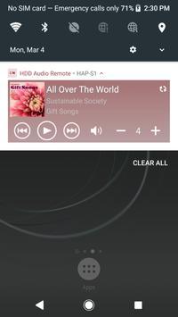 HDD Audio Remote screenshot 2