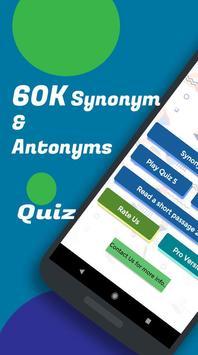 Synonym Antonym Learner : Vocabulary Builder poster