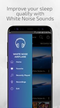 White Noise Airplane White Noise Plane Sleep Sound poster
