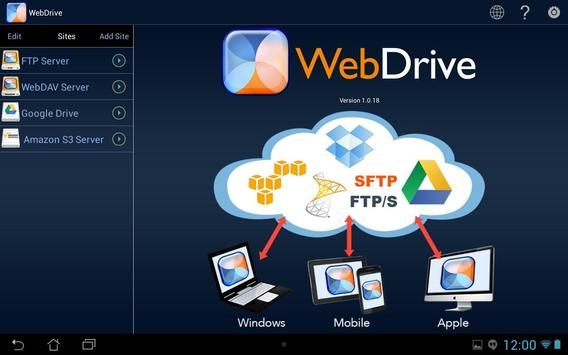 WebDrive, File Transfer Client screenshot 4
