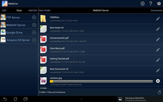 WebDrive, File Transfer Client screenshot 6
