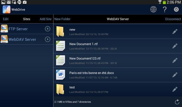 WebDrive, File Transfer Client screenshot 9
