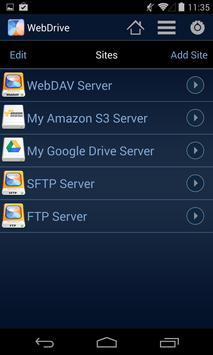 WebDrive, File Transfer Client screenshot 1