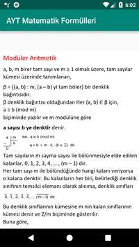 AYT matematik formülleri screenshot 2