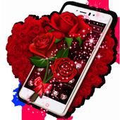 Sparkle Red Rose Theme icon