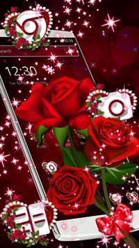Sparkle Red Rose Theme poster