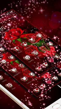Sparkle Red Rose Theme screenshot 1