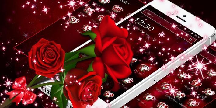 Sparkle Red Rose Theme screenshot 3