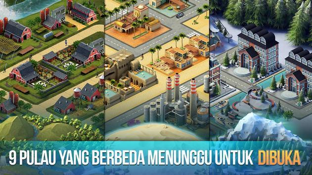 Kota Pulau 3 - Building Sim Offline screenshot 2