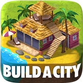 Town Building Games: Tropic City Construction Game icon