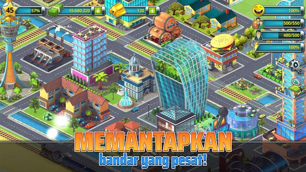 Town Building Games: Tropic City Construction Game syot layar 1