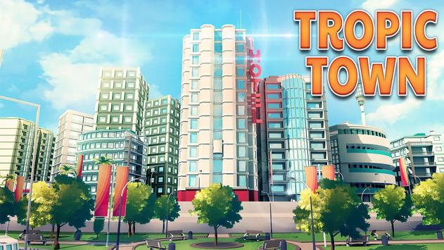 Town Building Games: Tropic City Construction Game 포스터