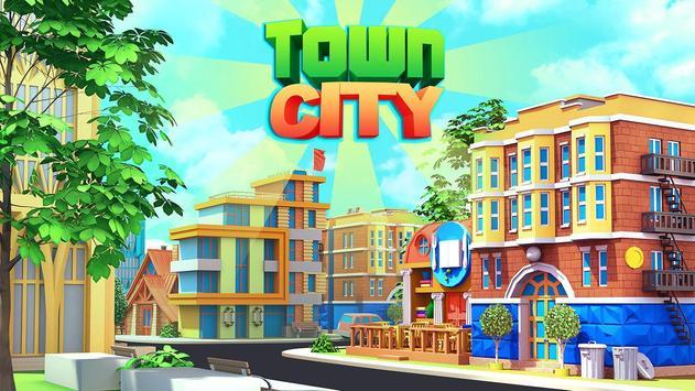 Town City - Village Building Sim Paradise Game الملصق