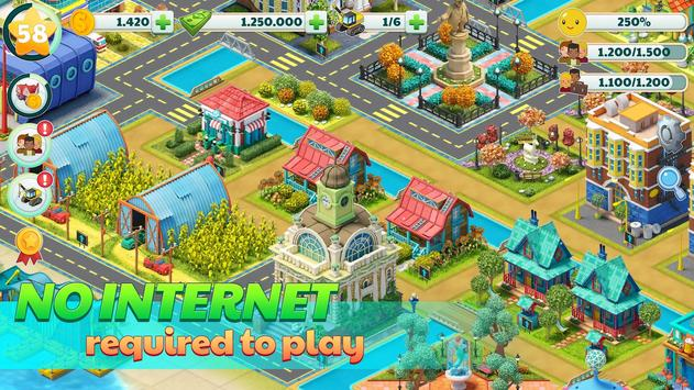 Town City - Village Building Sim Paradise Game تصوير الشاشة 14