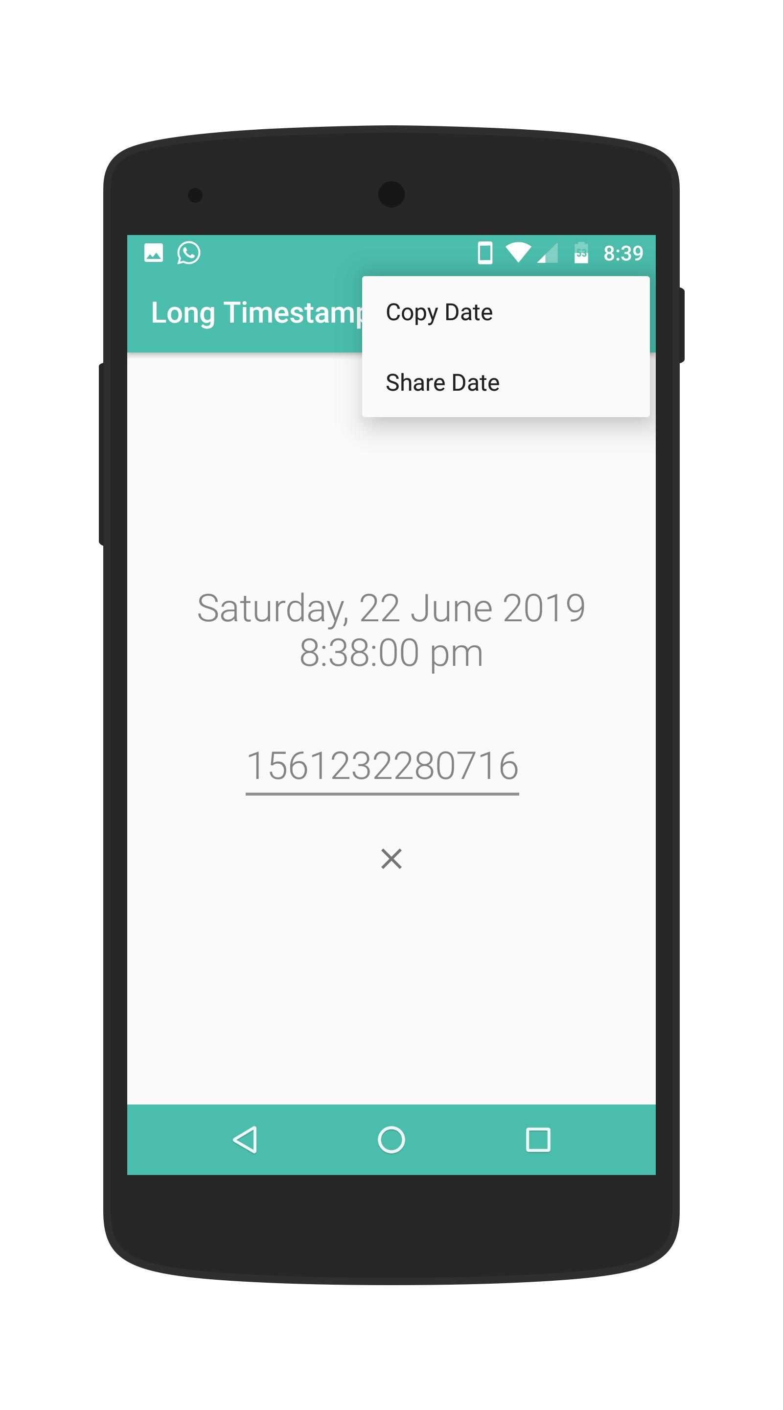 Long Timestamp Converter For Android Apk Download