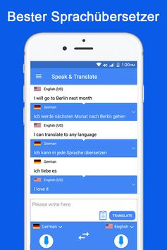 Sprechen und übersetzen Sie Sprachübersetzer Plakat