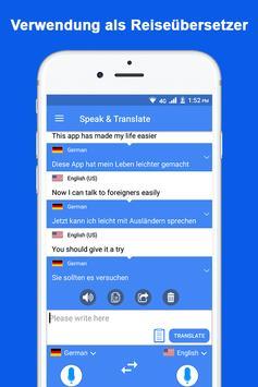 Sprechen und übersetzen Sie Sprachübersetzer Screenshot 1